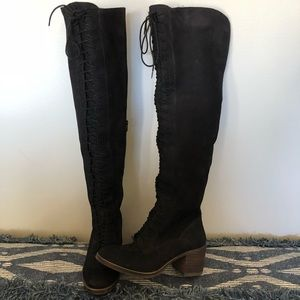 NWOT Lucky Brand Over The Knee Lace Up Boots!